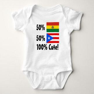 50% Bolivian 50% Puerto Rican 100% Cute Baby Bodysuit