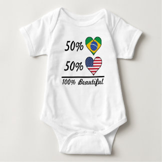 50% Brazilian 50% American 100% Beautiful Baby Bodysuit