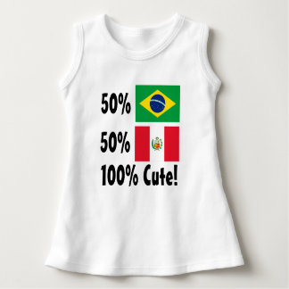 50% Brazilian 50% Peru 100% Cute Dress