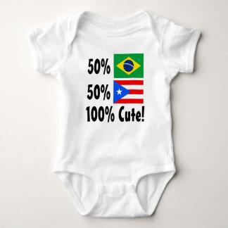 50% Brazilian 50% Puertorican 100% Cute Tee Shirt