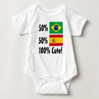 50% Brazilian 50% Spanish 100% Cute Baby Bodysuit