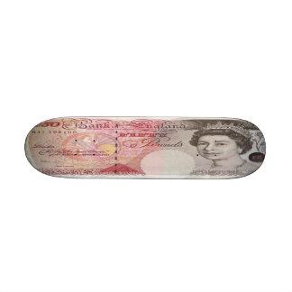50 British Pound Bank Note Skateboard Mini