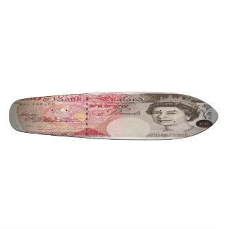 50 British Pound Bank Note Skateboard Oldschool