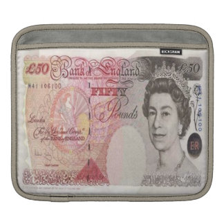 50 British Pound Banknote iPad Sleeve