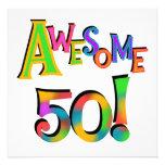 50 camisetas y regalos impresionantes del cumpleañ invitaciones personalizada