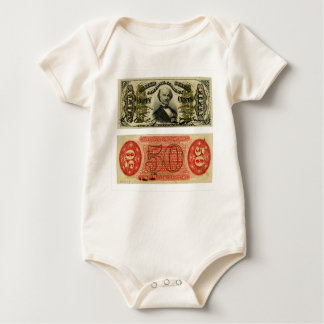 50 Cent Fractional Currency Francis Spinner Baby Bodysuit