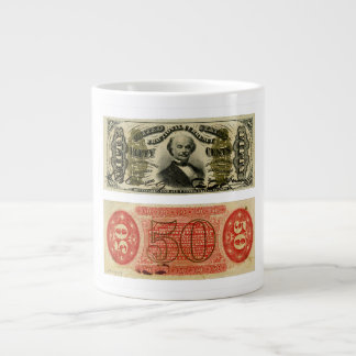 50 Cent Fractional Currency Francis Spinner Large Coffee Mug