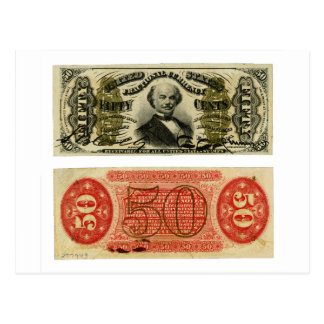 50 Cent Fractional Currency Francis Spinner Postcard