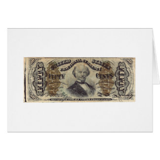 50-Cent Fractional Currency (Spinner bill) Card