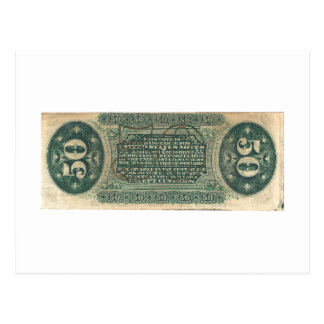 50-Cent Fractional Currency (Spinner bill) Postcard