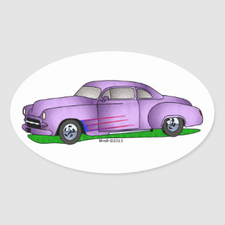 50 Chevrolet Coupe Oval Sticker
