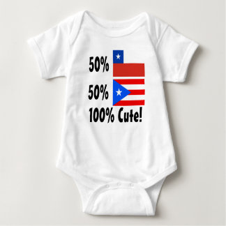 50% Chilean 50% Puerto Rican 100% Cute Baby Bodysuit