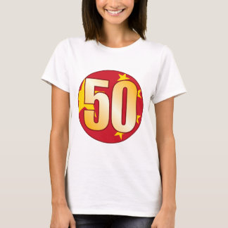50 CHINA Gold T-Shirt