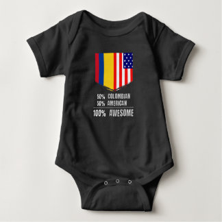 50% Colombian 50% American 100% Awesome Baby Bodysuit