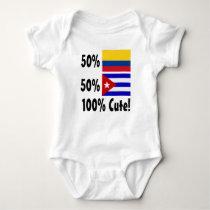 50% Colombian 50% Cuban 100% Cute Baby Bodysuit