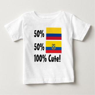 50% Colombian 50% Ecuadorian 100% Cute Baby T-Shirt