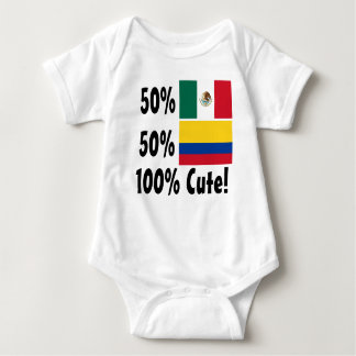 50% Colombian 50% Mexican 100% Cute Baby Bodysuit