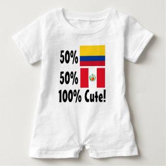 50% Colombian 50% Peruvian 100% Cute Baby Romper
