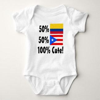50% Colombian 50% Puerto Rica 100% Cute Baby Bodysuit