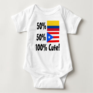 50% Colombian 50% Puerto Rica 100% Cute Shirt