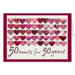 ¡50 corazones por 50 años! felicitacion