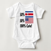 50% Costa Rican 50% American 100% Cute Baby Bodysuit
