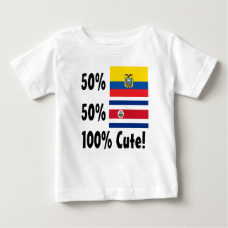 50% Costa Rican 50% Colombian 100% Cute Baby T-Shirt