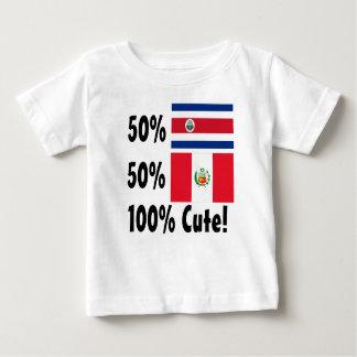 50% Costa Rican 50% Peruvian 100% Cute Baby T-Shirt