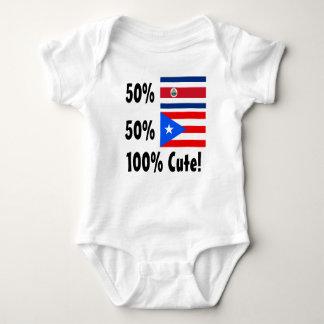 50% Costa Rican 50% Puerto Rican 100% Cute Baby Bodysuit