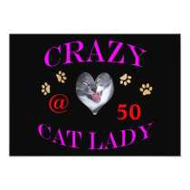 50 Crazy Cat Lady Card