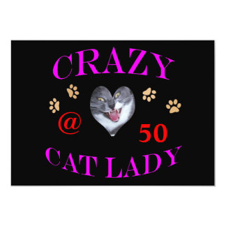 50 Crazy Cat Lady Personalized Announcement