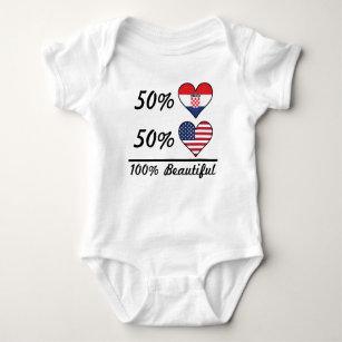 0872e2a1a91 50% Croatian 50% American 100% Beautiful Baby Bodysuit