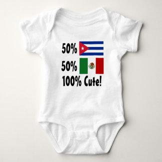 50% Cuban 50% Mexican 100% Cute! Baby Bodysuit