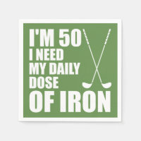 50 Daily Dose Of Iron Golfer Party Napkins