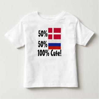 50% Danish 50% Russian 100% Cute Toddler T-shirt