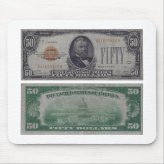 50 Dollar United States Gold Certificate Mouse Pad