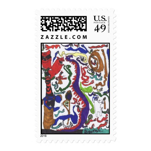 50 dragons stamps