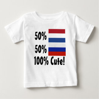 50% Dutch 50% Russian 100% Cute Baby T-Shirt