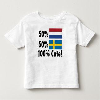 50% Dutch 50% Swedish 100% Cute Toddler T-shirt