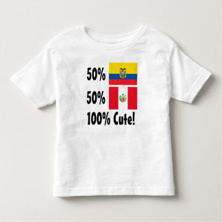 50% Ecuadorian 50% Peruvian 100% Cute Toddler T-shirt
