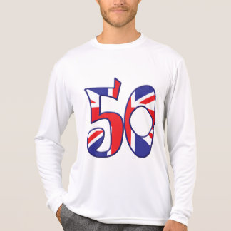 50 edad Reino Unido Remera