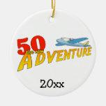 50 el nuevo ornamento del recuerdo del avión de la ornamento de navidad