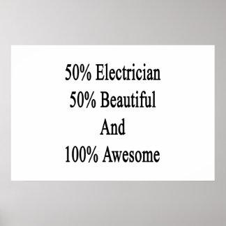 50 electricista 50 hermoso y 100 impresionantes póster