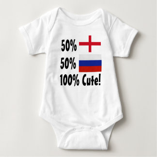 50% English 50% Russian 100% Cute Baby Bodysuit