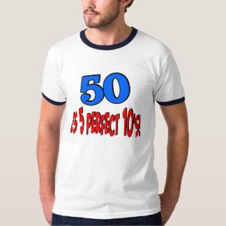 50 es 5 10s perfectos (AZULES) Playera