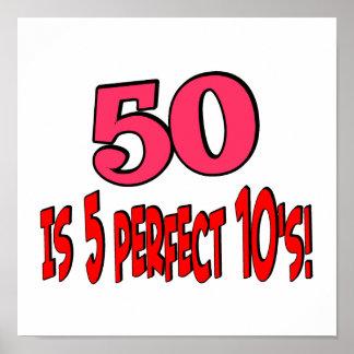 50 es 5 10s perfectos póster