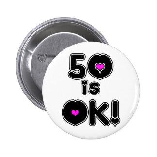 50 es cumpleaños ACEPTABLE Pins