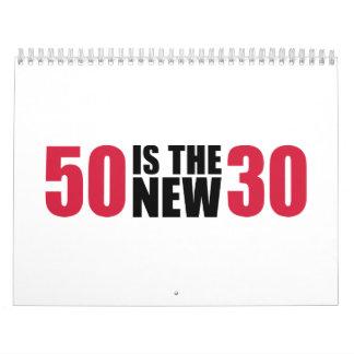 50 es el nuevo cumpleaños 30 calendario de pared