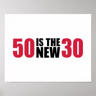 50 es el nuevo cumpleaños 30 posters