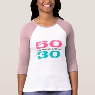 50 es la nueva camiseta 30 para el quincuagésimo c playeras